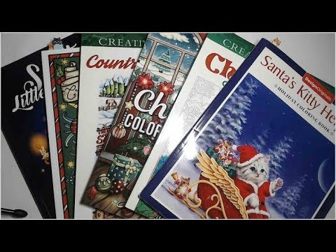 Flip-Through Christmas/Winter Adult Coloring Books 2019 - Part 2