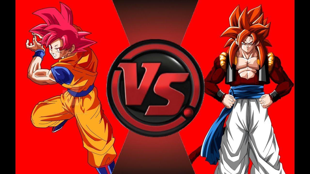 super saiyan god goku vs super saiyan 4 gogeta sprite animation