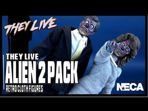 NECA They Live Retro Cloth Alien Two Pack | Video Review HORROR