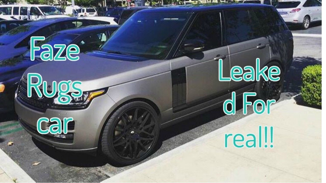 faze rug car. faze rugs\u0027 car color (100% real)!! leaked rug a