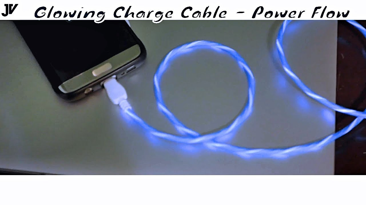 Charging Cable that Glows Flowing Power