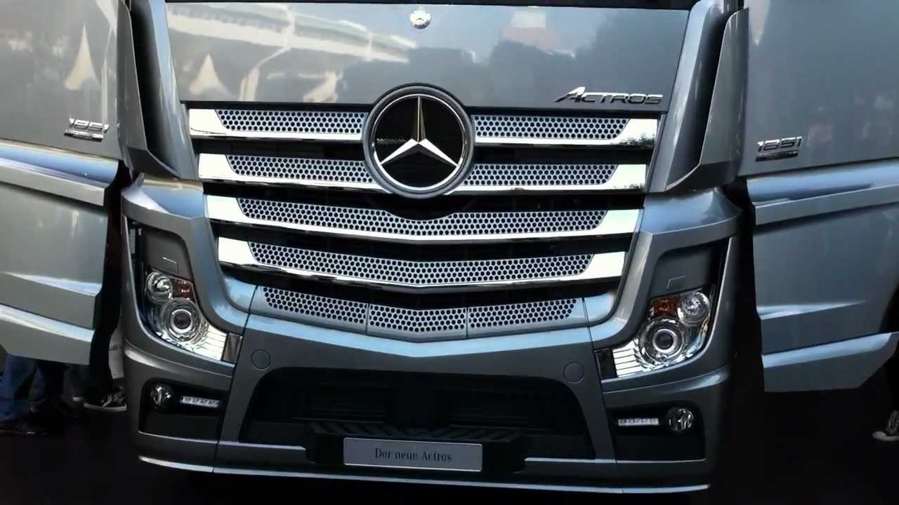 New mercedes benz truck actros youtube for The new mercedes benz truck