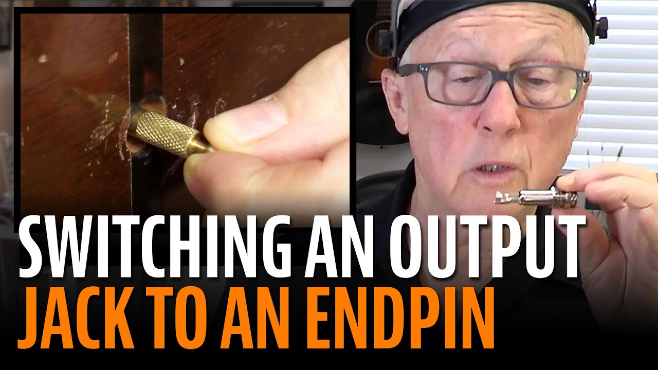 How To Revert An Output Jack To An Endpin On An Acoustic Guitar Youtube