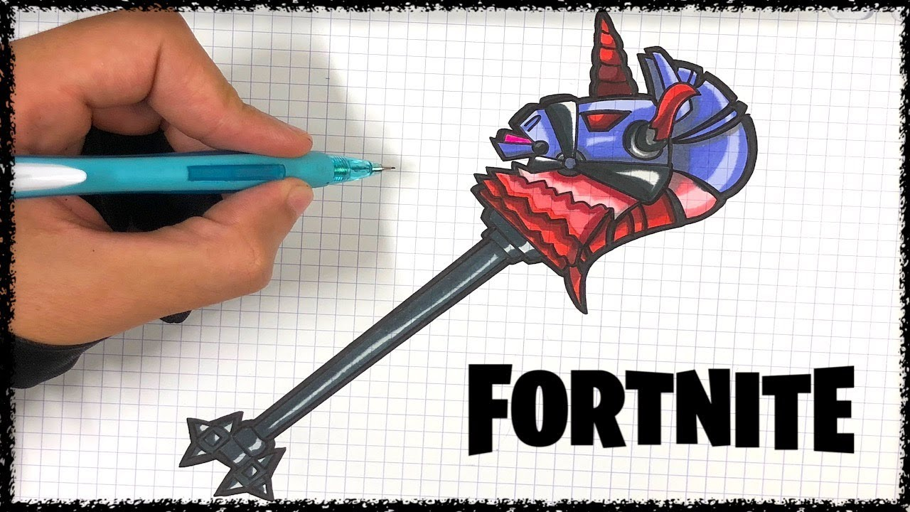 How To Draw Thunder Crash Axe Fortnite