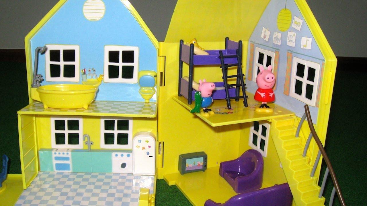 Peppa Pig House Deluxe Peppa Pig Playhouse Bandai  Juguetes de Peppa Pig  YouTube