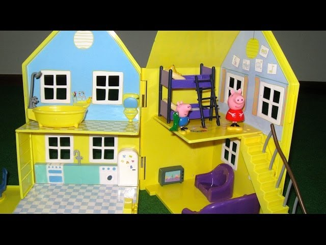 Peppa Pig House Deluxe Peppa Pig Playhouse Bandai Videos De Viajes