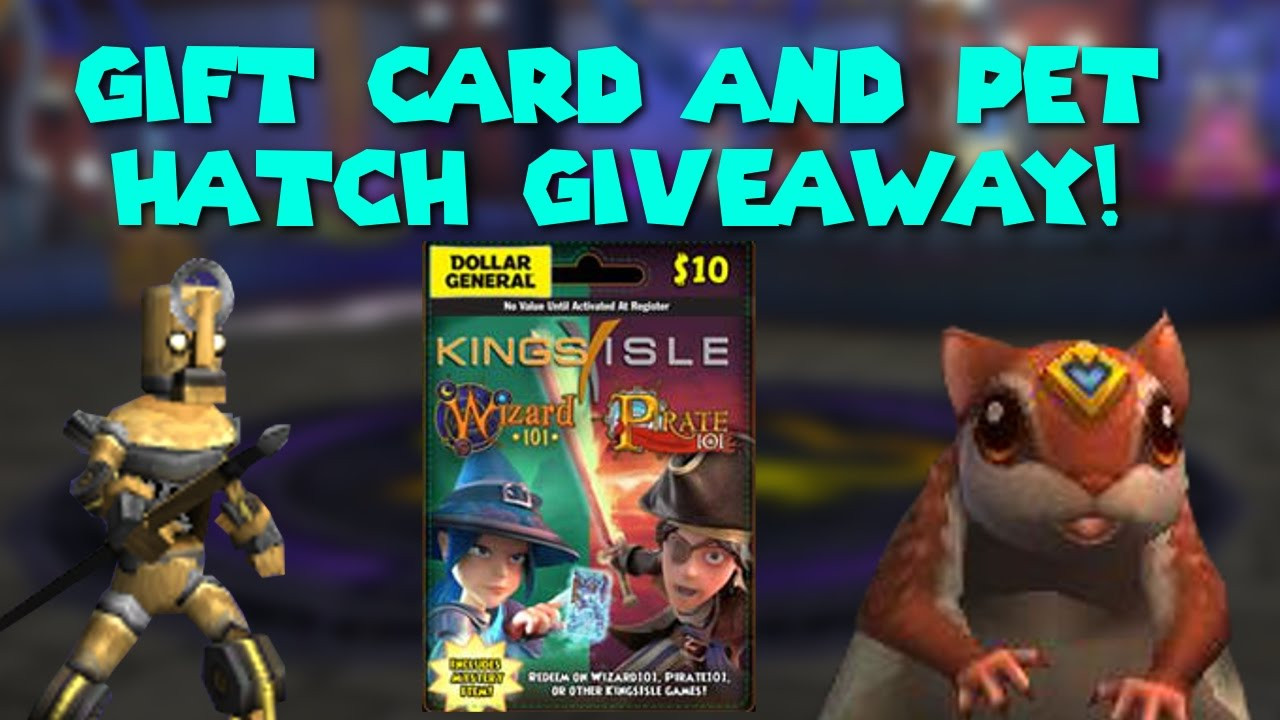 Wizard101 Gift Card And Pet Hatching Giveaway
