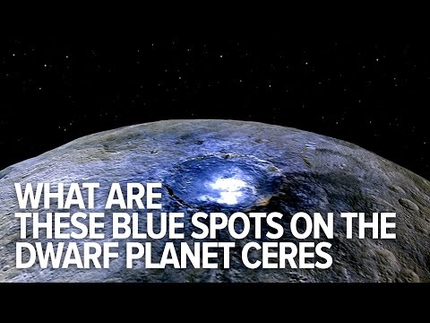 What are these glowing blue spots on the dwarf planet Ceres?