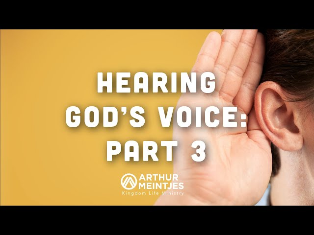 More on Hearing God's Voice!