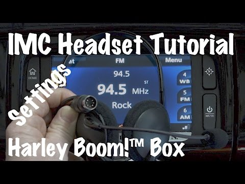 IMC Headset & Harley Boom Box Infotainment Setup & Instructions