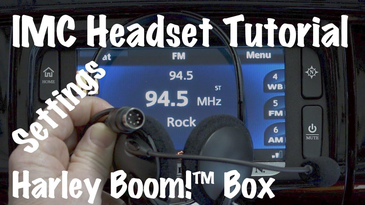 iMC 7 Pin headset for Harley's. Half Helmet & Helmetless Headset Kit. Harley Headset Wiring Diagram on