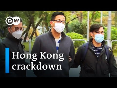 Hong Kong police arrest dozens of pro-democracy activists | DW News