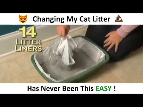 sifting cat litter liners - sift and toss litter liner fastest easiest way remove dirty litter