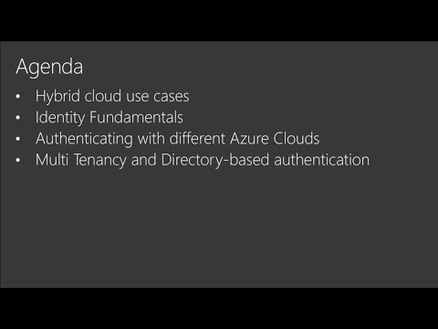 Understanding hybrid identity, authentication, and authoriza