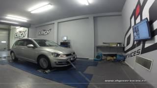 VW Golf 7 2.0 TDI 150cv DSG Reprogrammation Moteur @ 181cv Digiservices Paris 77 Dyno