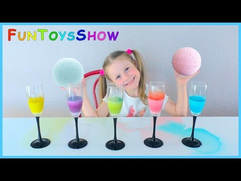 Thumbnail: Learn Colors with Bath Bombs for Kids! Teach Colours for Children Toddlers and Babies