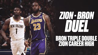 LeBron Records Triple-Double, Zion Posts Career-High in Epic Duel