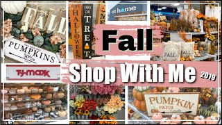 FALL DECOR SHOP WITH ME at Tj Maxx & AT Home Store | Fall Decor Shopping &  Decorating Ideas