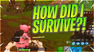 HOW DID I SURVIVE?!? - Fortnite BR Solo Squads Full Gameplay
