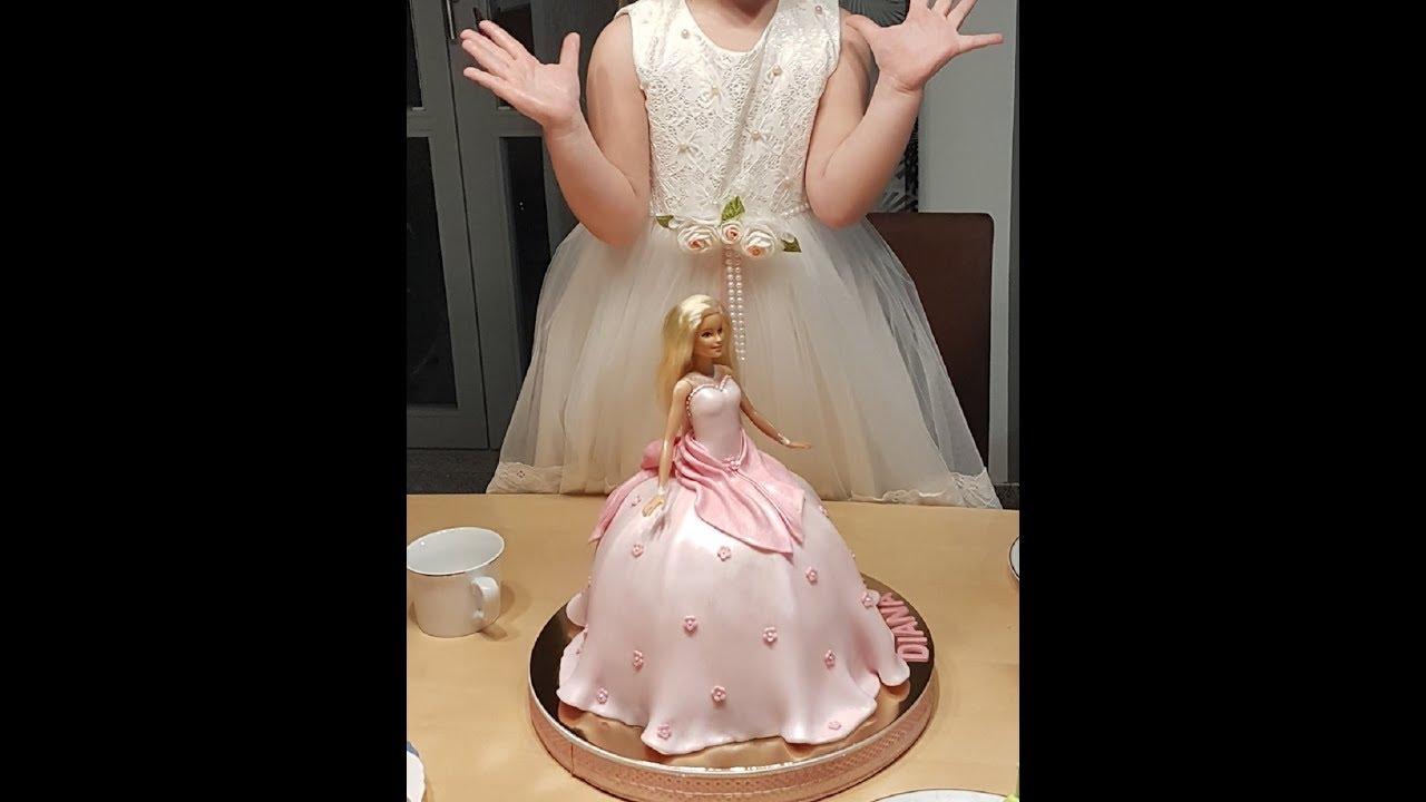 Barbie Torte - Tutorial | Fondanttorten