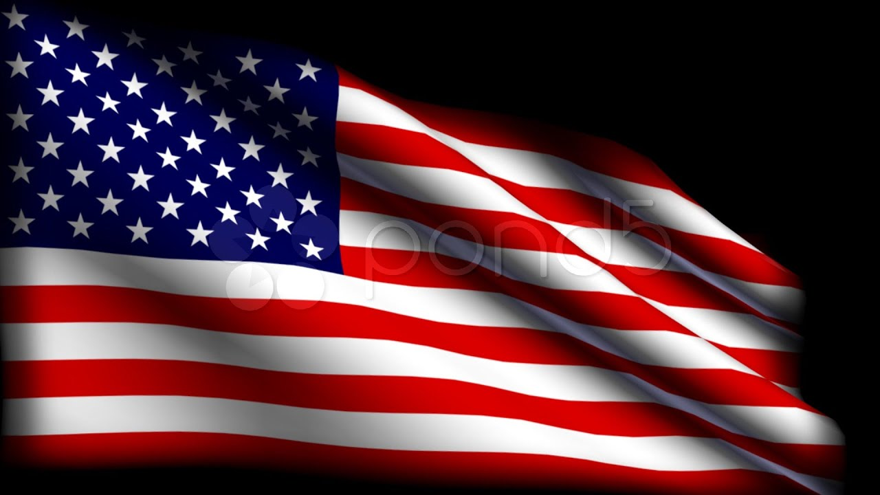 American Flag Animation Hd. Stock Footage