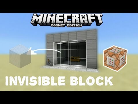 Command Block Tutorial || Working Invisible/Forces Field Block Using Commands || Minecraft Pe