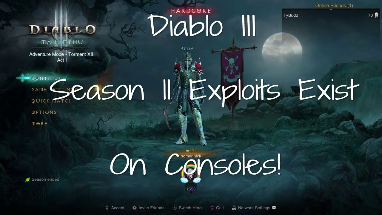 Diablo III - Console Season 11 Exploits Detailed! Blizzard Please Fix!