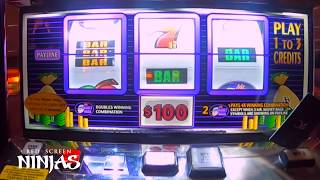 VGT SLOTS - $100 BET X3 MR. MONEY BAGS NO RED SPIN!! AT CHOCTAW CASINO, DURANT, OK