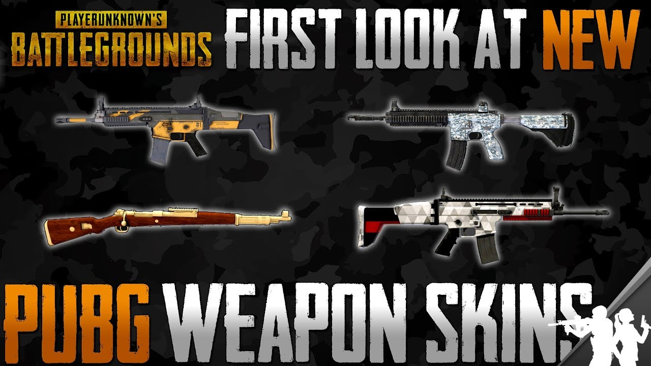First Look At New Pubg Weapon Skins Part Of The  Roadmap For Playerunknowns Battlegrounds