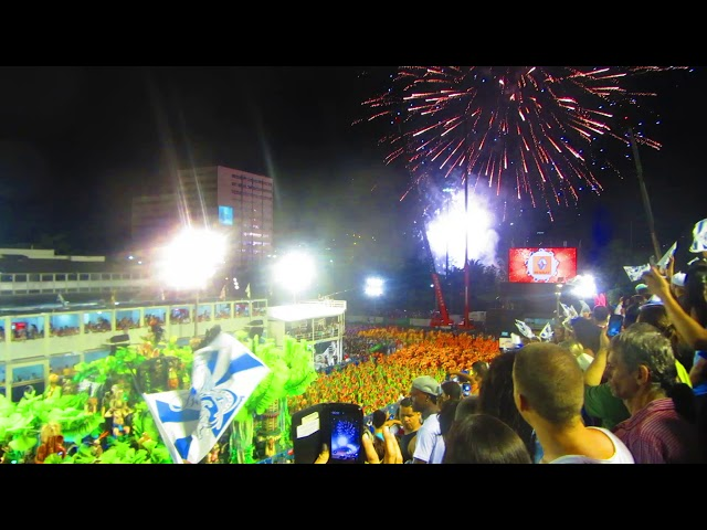 BRAZIL - Sambodromo Fireworks, Carnaval de Rio 2015