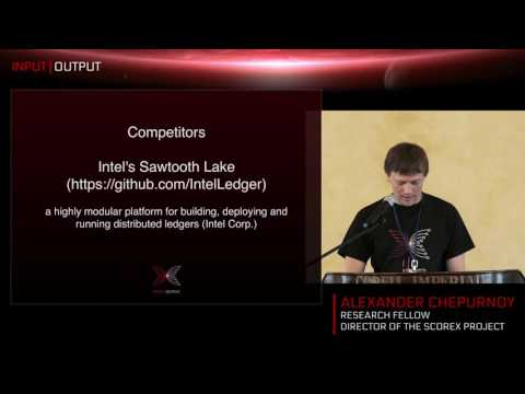 IOHK session Scorex: A Modular Toolbox for Cryptocurrency Research & Blockchain Technologies.