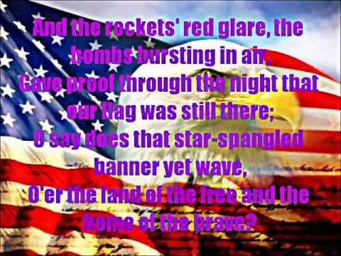 Star Spangled Banner Full Version with Lyrics on Screen