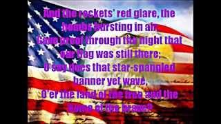 Star Spangled Banner Full Version with Lyrics on Screen