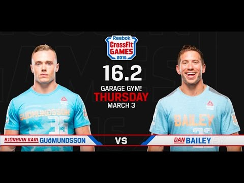 CrossFit Open 16.2 BJORGVIN KARL GUOMUNDSSON vs DAN BAILEY