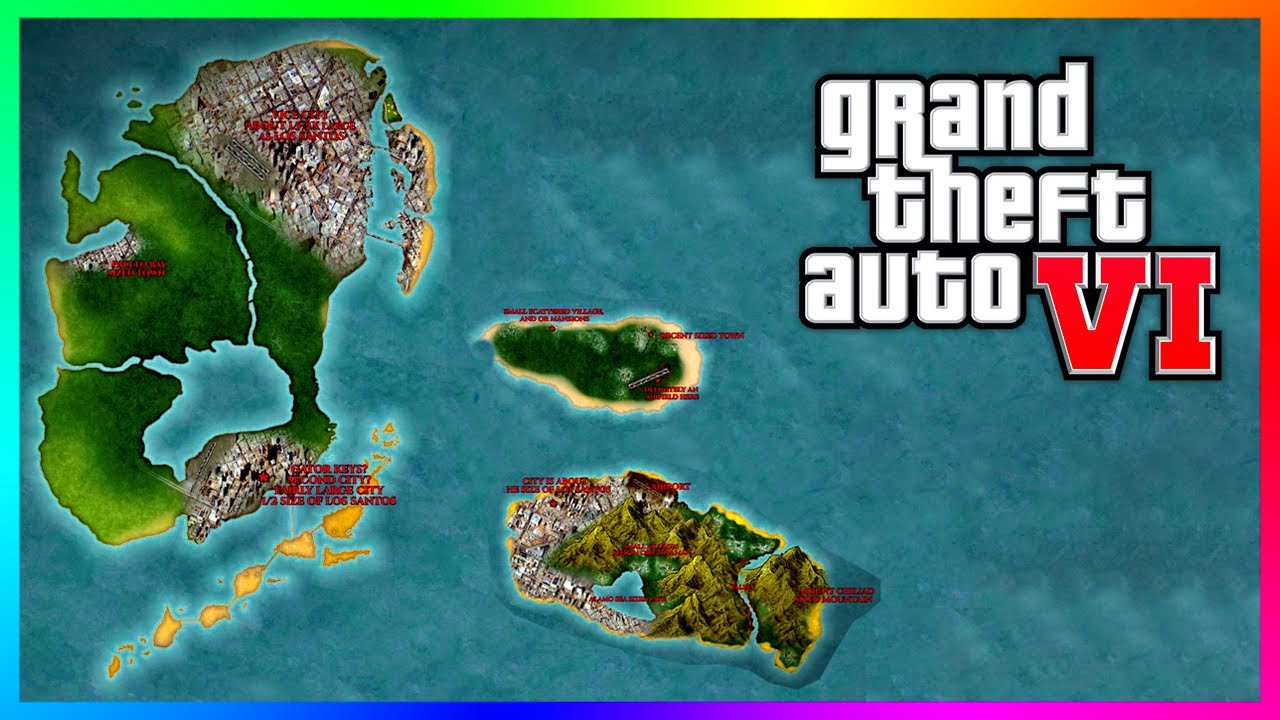 GTA 6 RUMORED MAP - NEW DETAILS! A Rogue Rockstar Games Employee LEAKED The Map Years Ago...