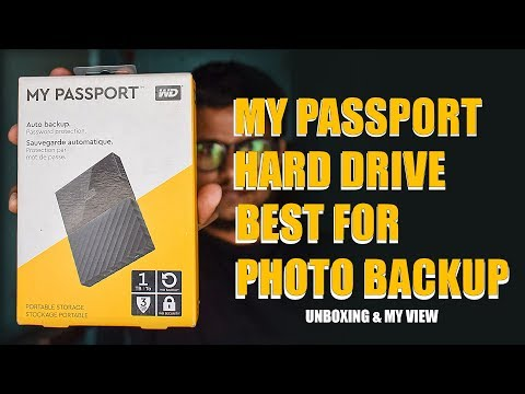 BEST PORTABLE HARD DRIVE FOR BACKUP PHOTOS | HINDI UNBOXING AND MY VIEW
