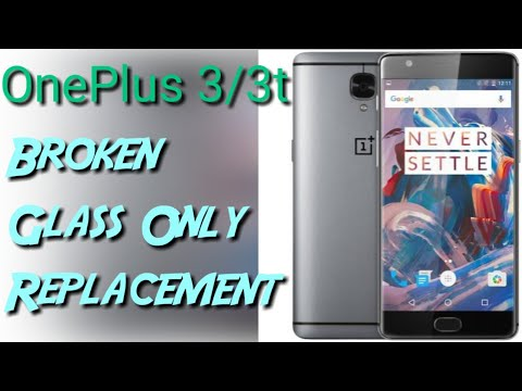 oneplus 3/3t glass only replacement full process | By technical ustaaj |