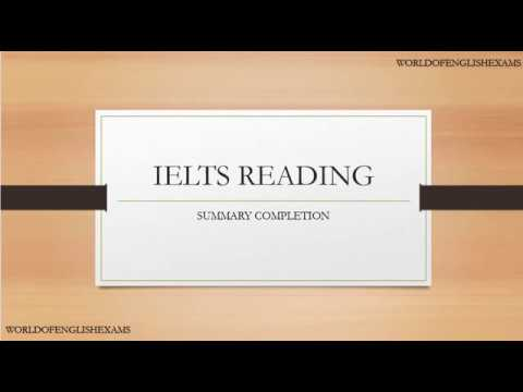 IELTS READING | Summary Completion |