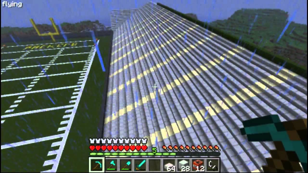 Minecraft Lets Build A Football Stadium Part
