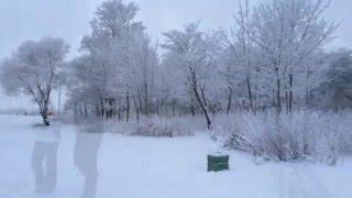 Колпино зимой - горка-чухонка.