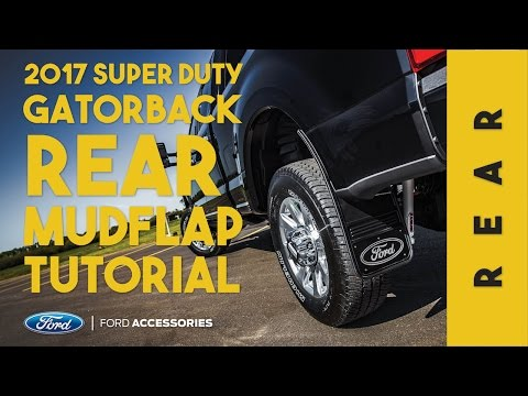 Gatorback CR 17-19 Super Duty Rear Mud Flap Installation (Ford Custom Accessories)
