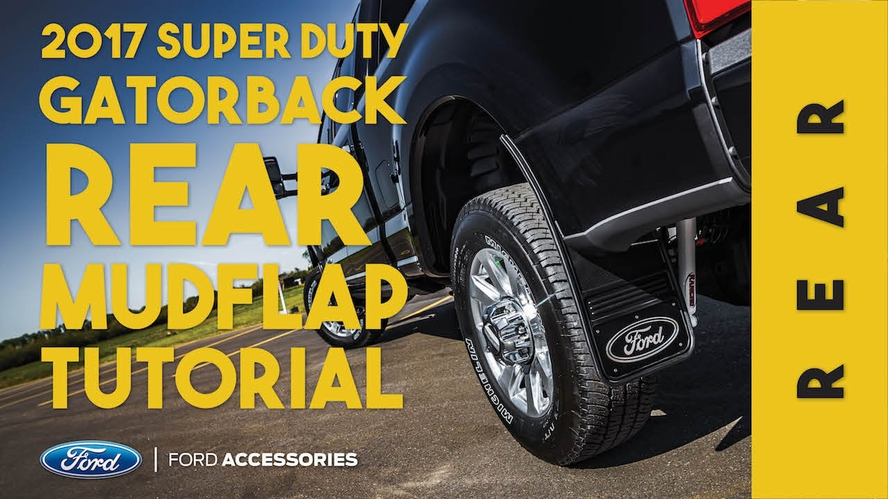 Gatorback 17-19 Super Duty Rear Mudflaps Installation ...