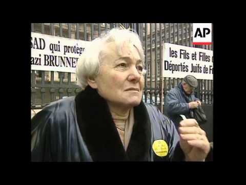 FRANCE: NAZI WAR CRIMINAL ALOIS BRUNNER CONVICTED