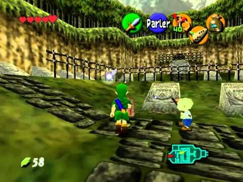 The legend of Zelda Ocarina of time 4 (Le chant de Saria et le chant du soleil)