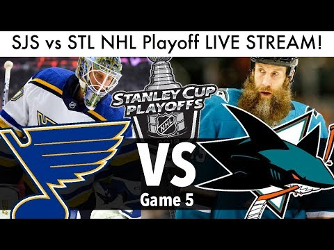 Sharks Vs Blues NHL Playoff Game 5 LIVE STREAM! (Round 3 Stanley Cup Series SJS/STL Reaction)