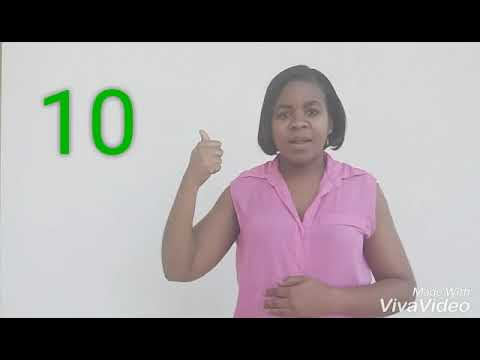 Barbados Sign Language (BSL), Numbers count 1 -20