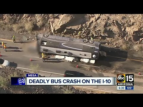 Tour bus crashes, driver of bus killed