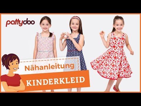 Einfaches Kinderkleid mit Schleife und Tellerrock nähen – Saum mit Schrägband