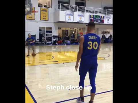 IGSnapchat Story, Warriors practice: Steph Curry, Livingston, Jordan Bell, Iguodala 2 days b4 NOP