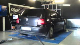 VW Golf 4 tdi 130cv @ 186cv reprogrammation moteur dyno digiservices